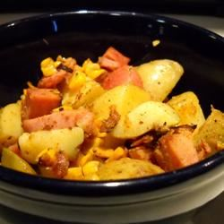 Spiced Potatoes and Spiral Ham