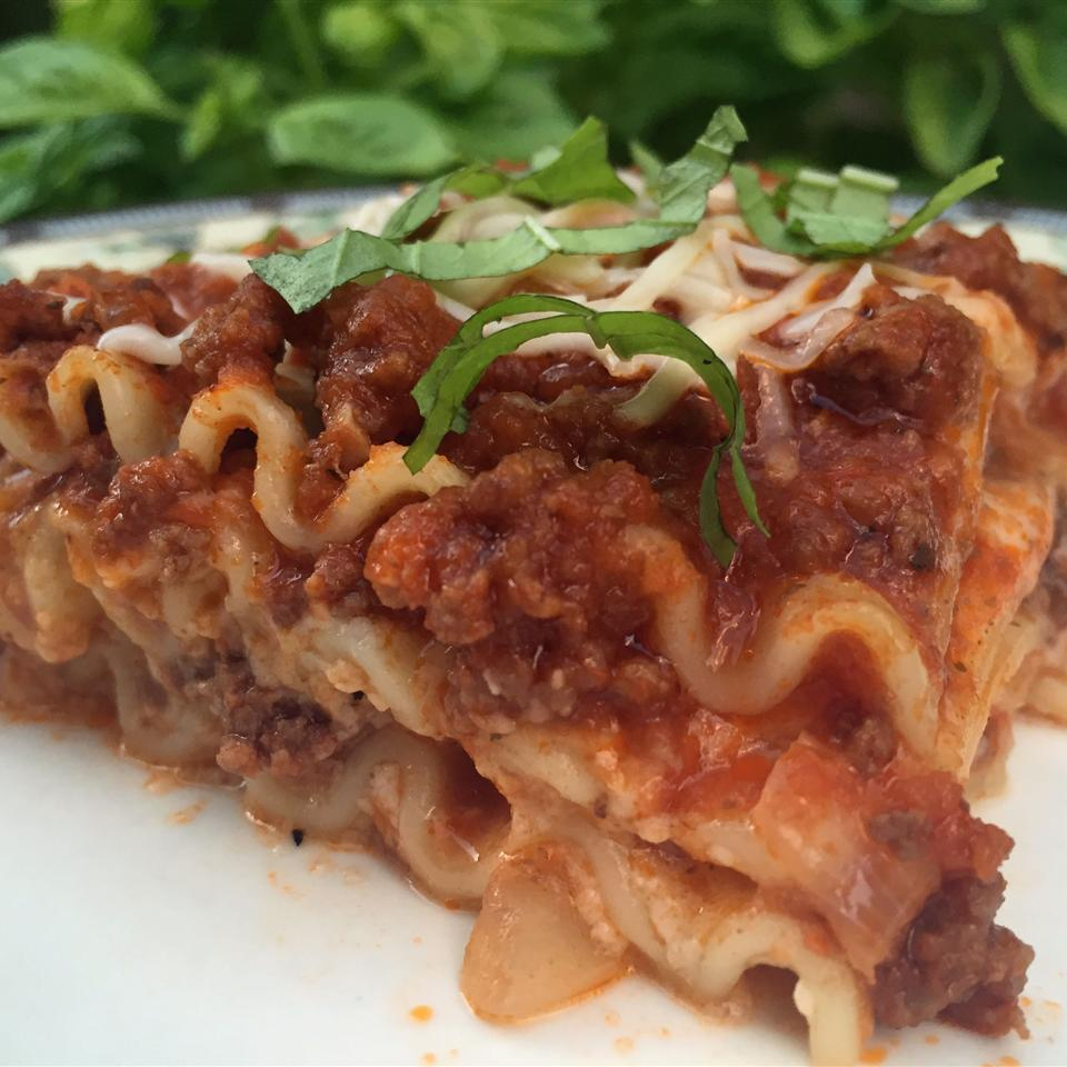 Oven-Ready Lasagna with Meat Sauce and Bechamel
