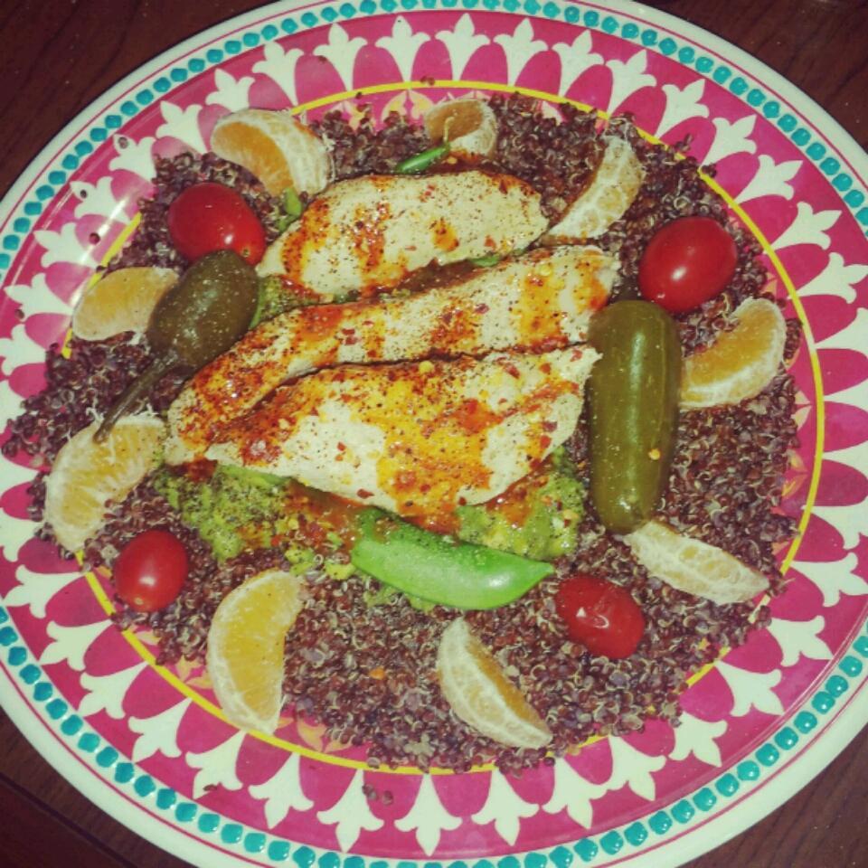 Cold Chicken Quinoa Avocado Salad Anna Xtina