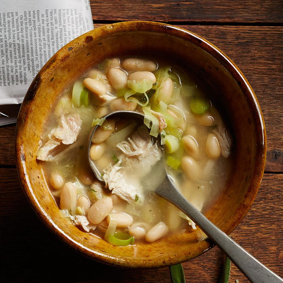 Chicken & White Bean Soup EatingWell Test Kitchen
