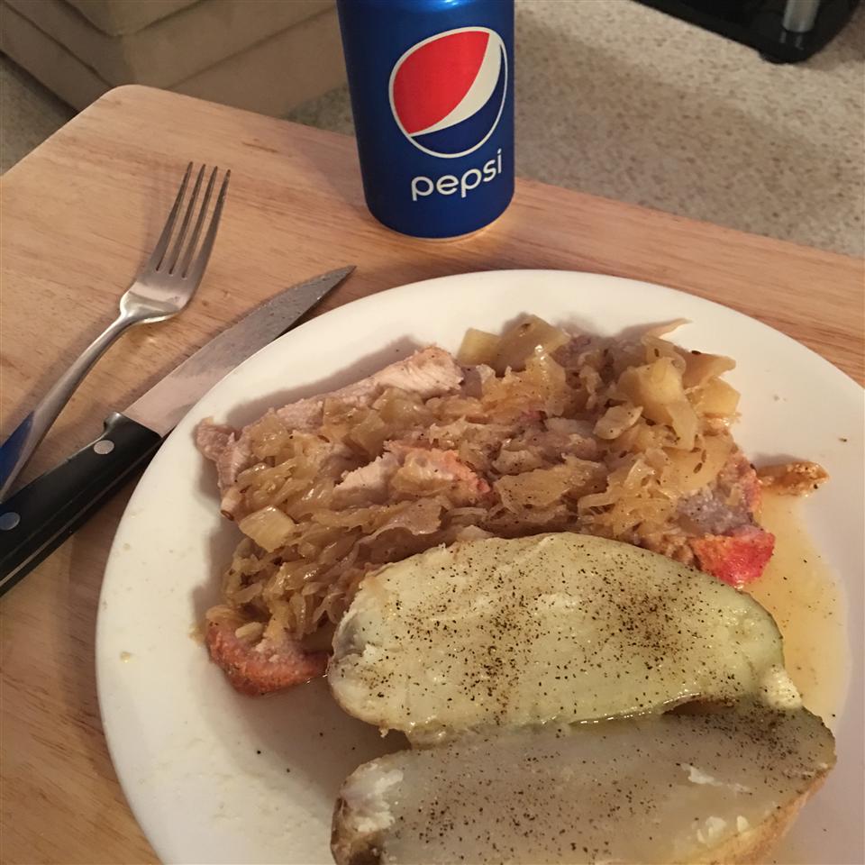 Pork Loin, Apples, and Sauerkraut John Bracero
