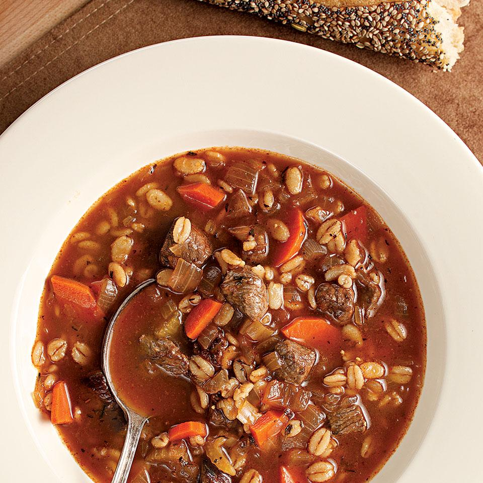 Quick Beef & Barley Soup EatingWell Test Kitchen