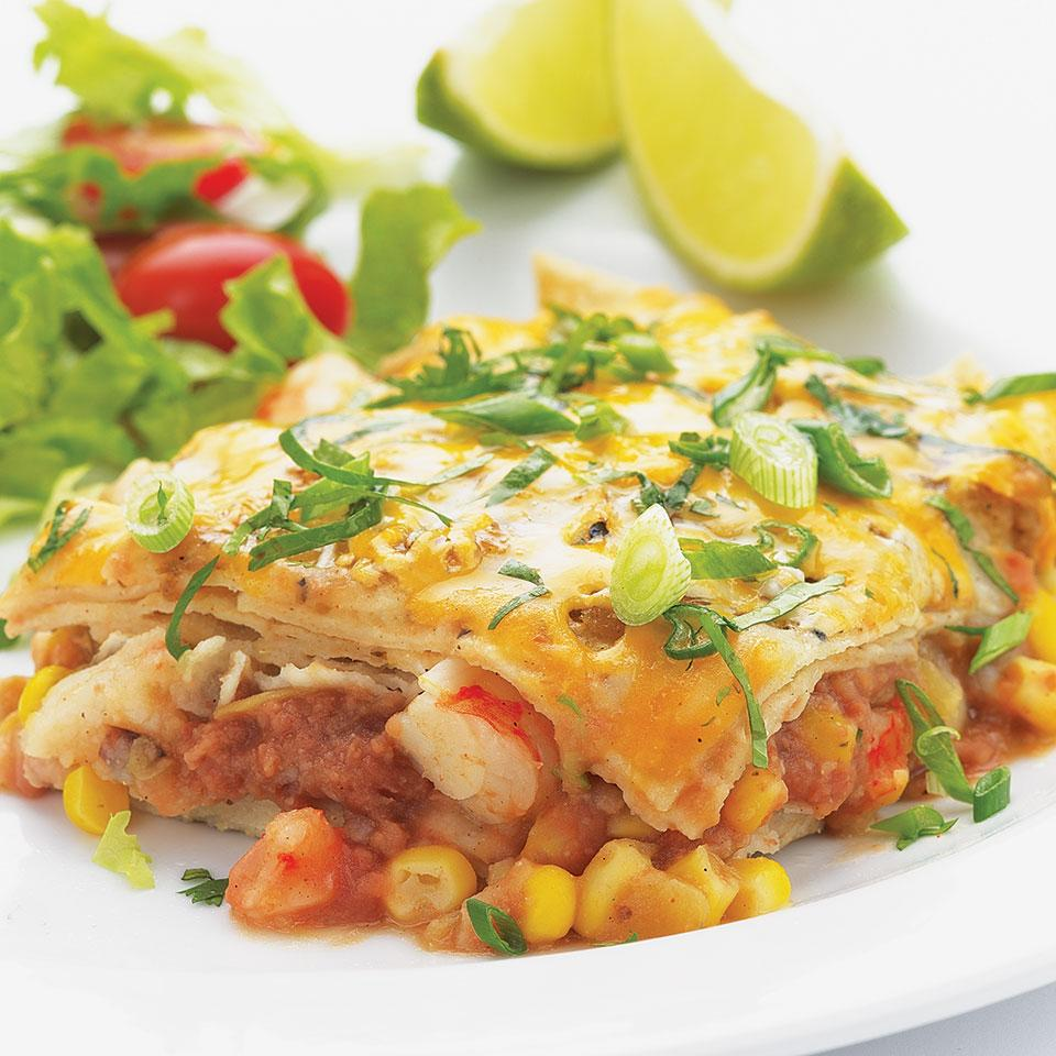 Quick Shrimp Enchilada Bake EatingWell Test Kitchen