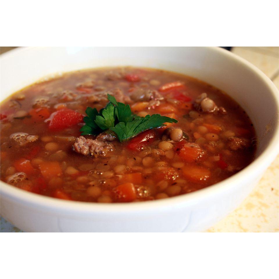 Lentil and Sausage Soup TTV78