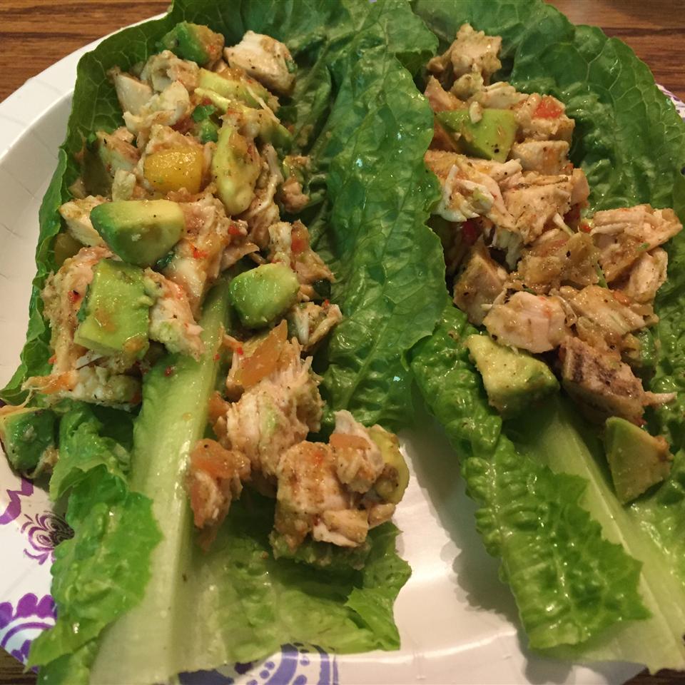 Avocado Chicken Lettuce Wraps suzi