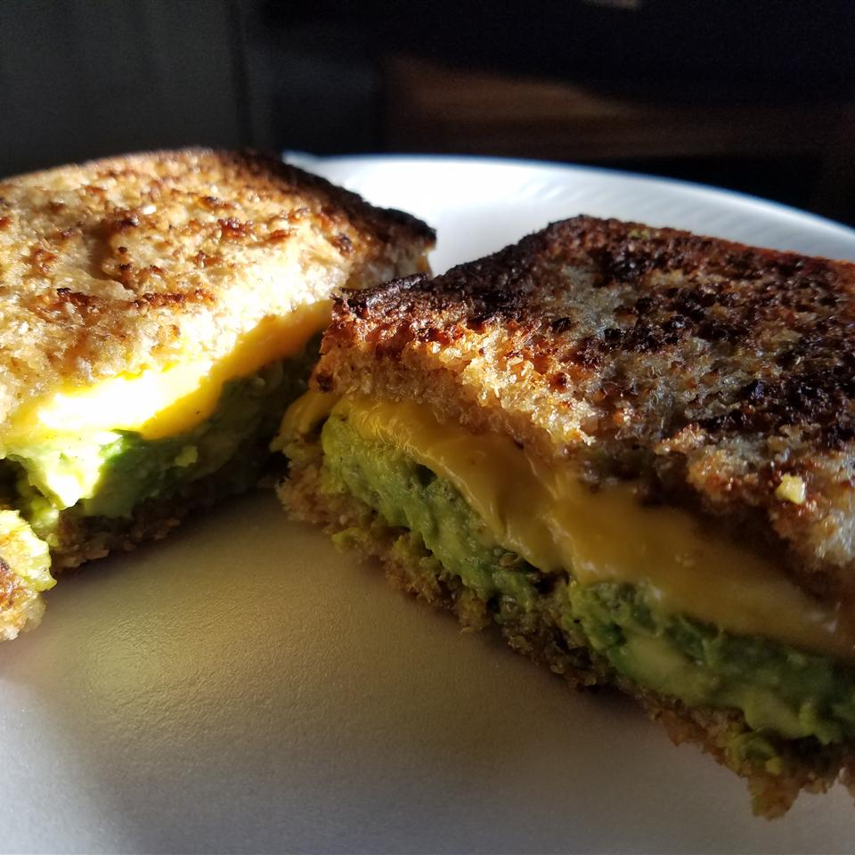 Creamy Jack Grilled Cheese with Fruit-Glazed Avocado