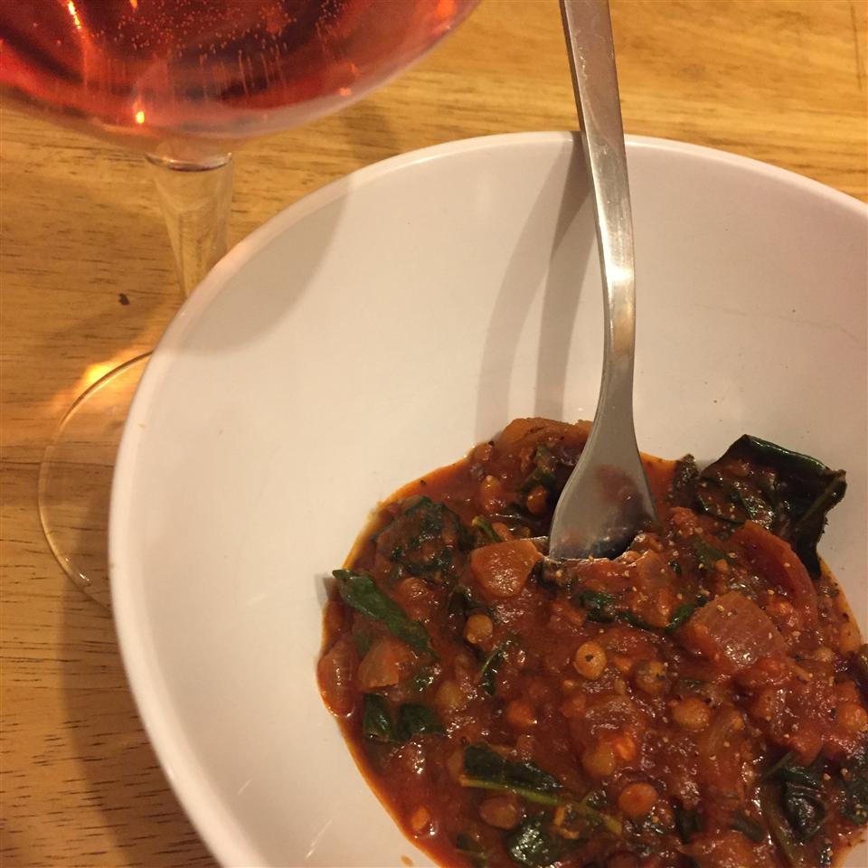 Garlic Lentils with Kale Sarah Fagerman