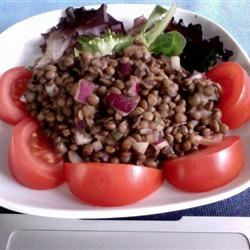 Smoked Salmon and Lentil Salad Lynn Pennec