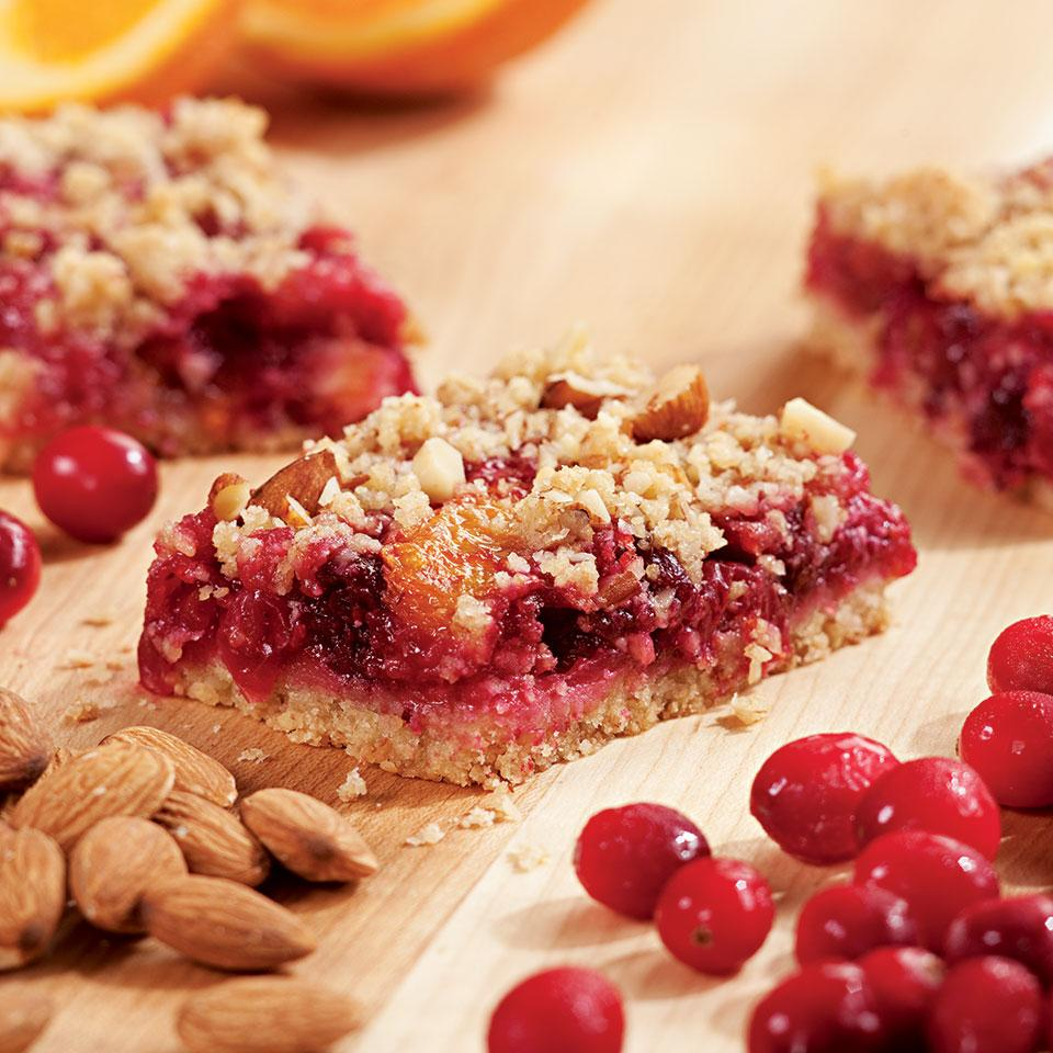 Cranberry-Orange Fruit Bars EatingWell Test Kitchen