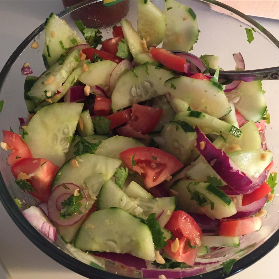 Thai Cucumber Tomato Salad Catherine Mattson