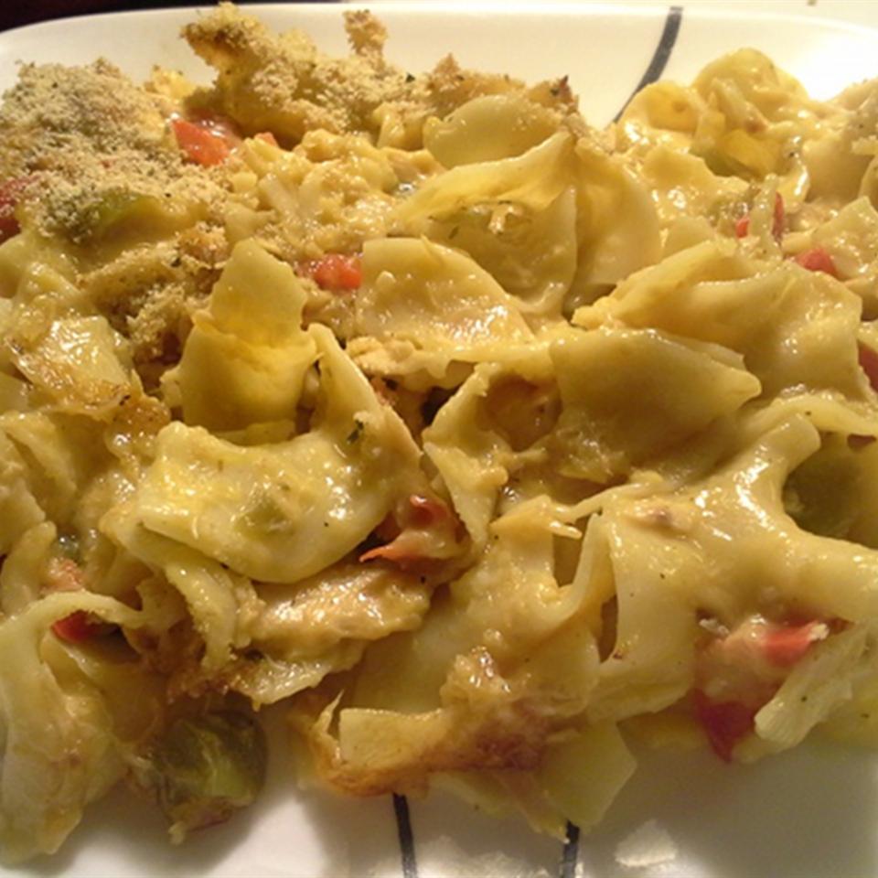 Cheesy Tuna Noodle Casserole Becca Bailey