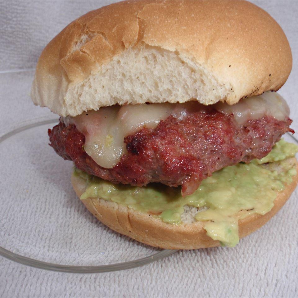 Guacamole Cilantro Lime Cheeseburger