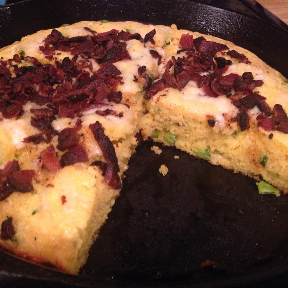 Cheesy Bacon Jalapeno Skillet Cornbread
