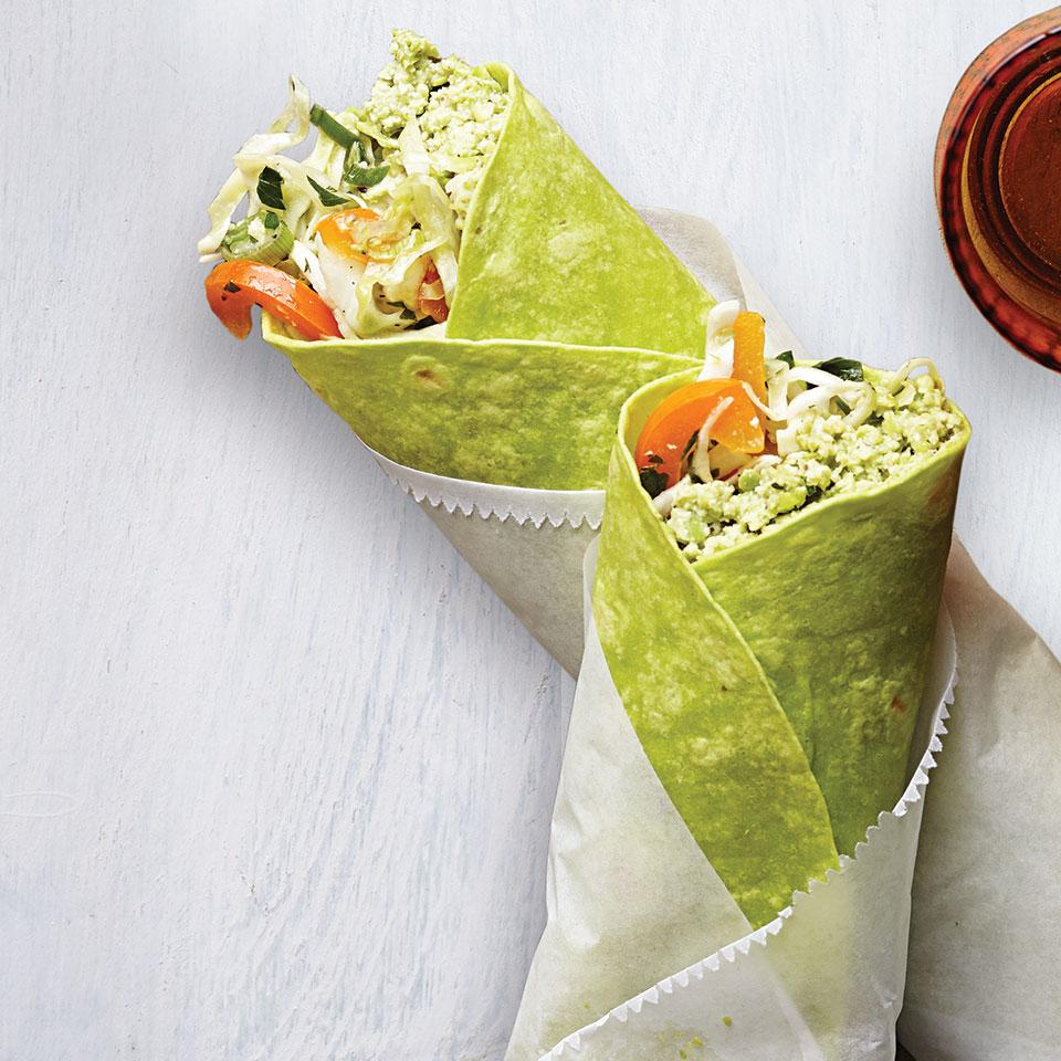 Edamame Hummus Wrap for Two EatingWell Test Kitchen