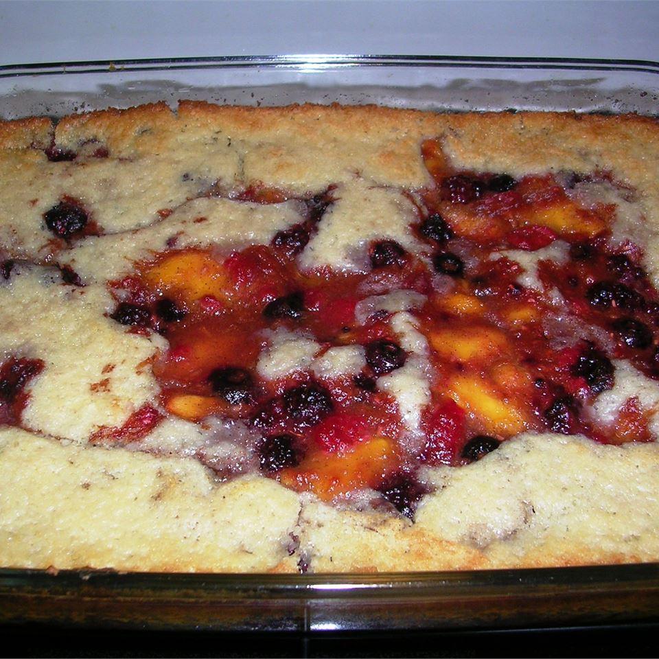 Peach Raspberry Cobbler Li