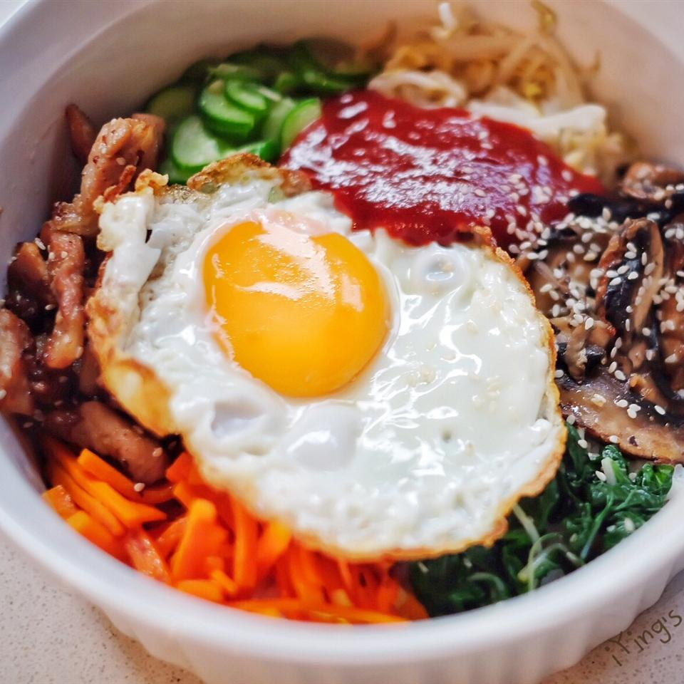 Bibimbap Korean Rice With Mixed Vegetables Allrecipes