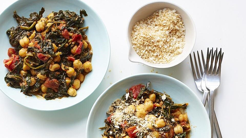 Sandy's Chickpea and Spinach Stew