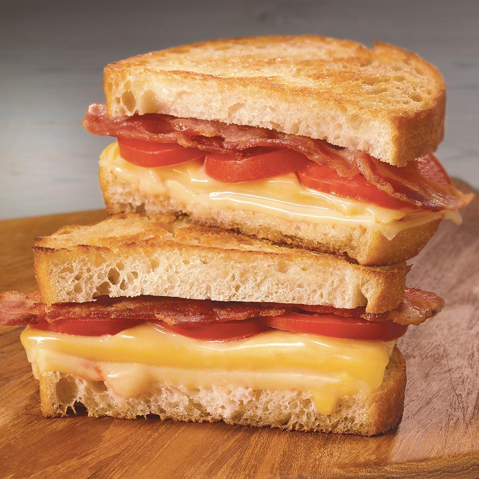 Bacon, Tomato & Triple Cheese Grilled Cheese