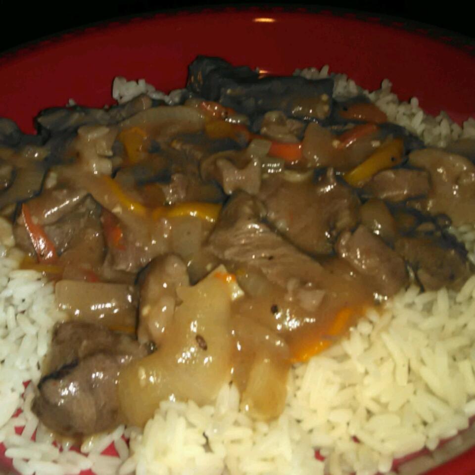 Pepper Steak and Rice David Washington