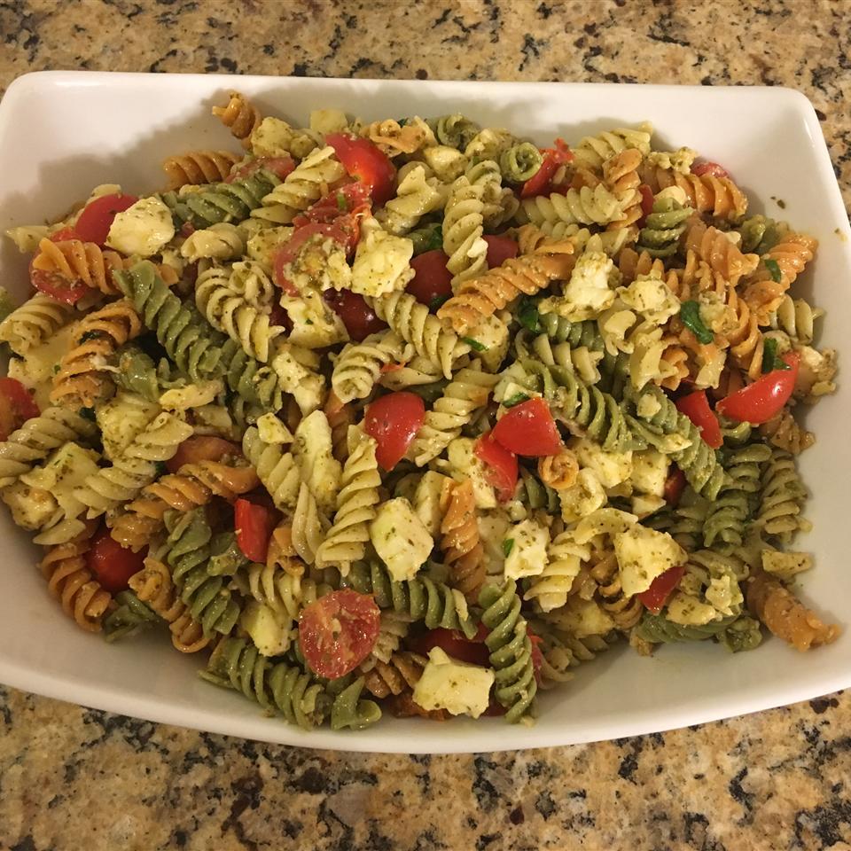 Pesto Pasta Caprese Salad Melissa Van Hofwegen