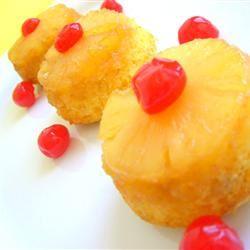 Mini Pineapple Upside-Down Cakes luvmykids