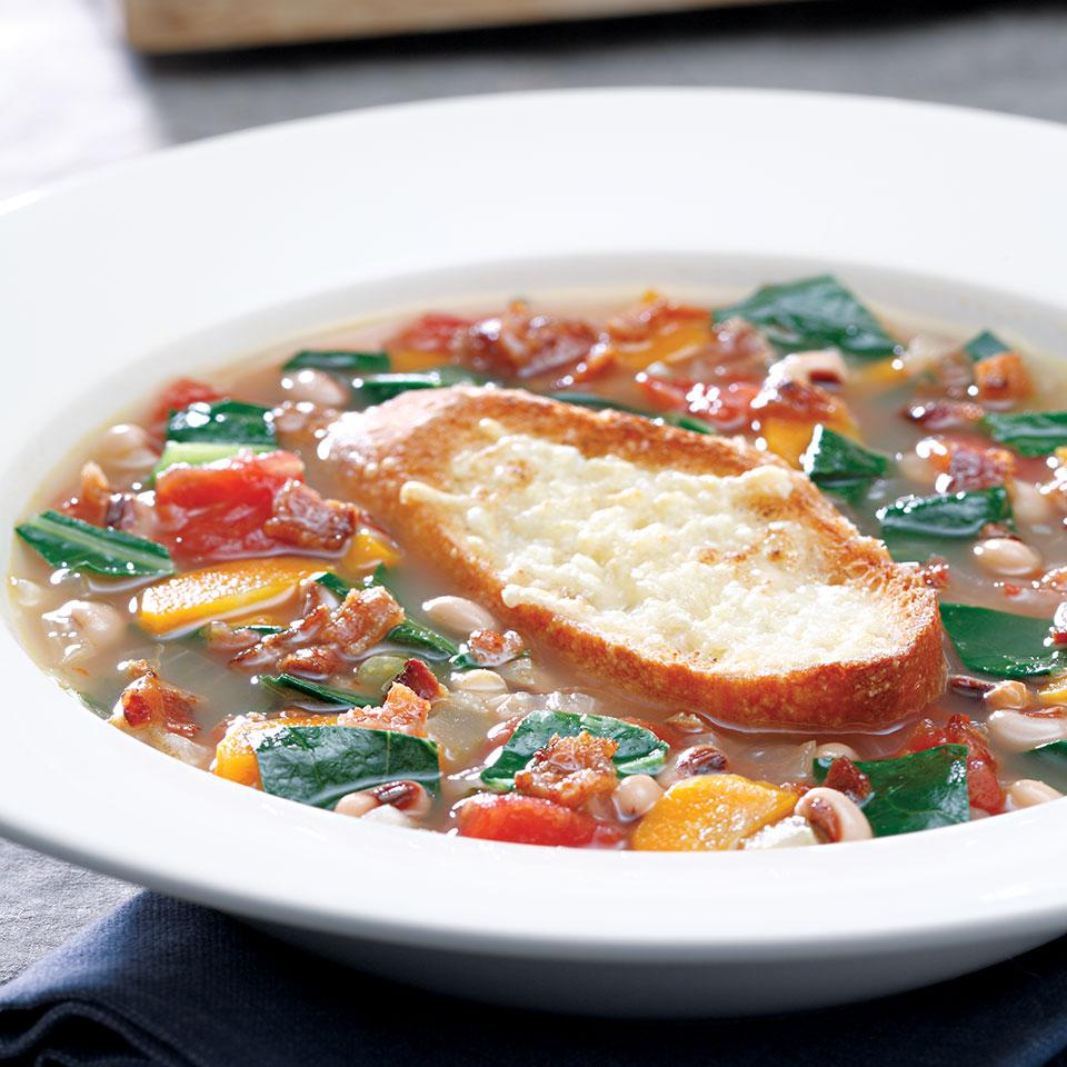Collard Green & Black-Eyed Pea Soup Carolyn Malcoun