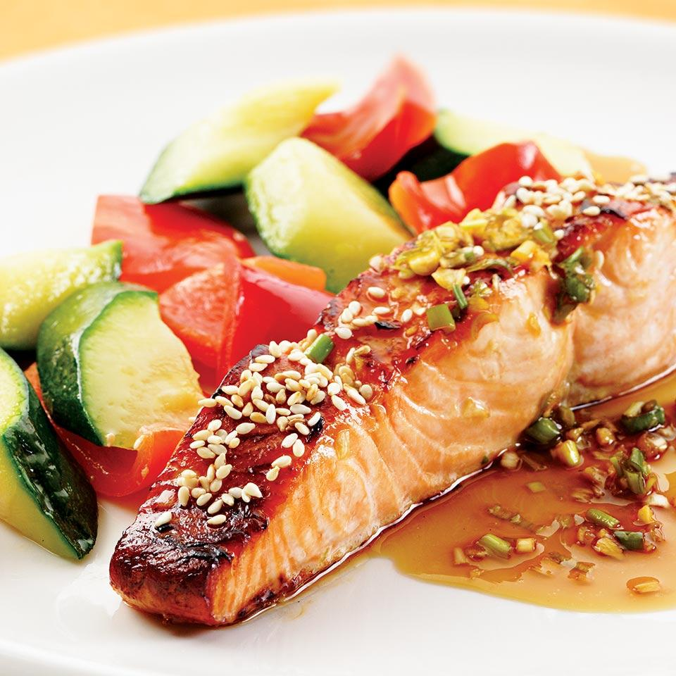 Honey-Soy Broiled Salmon EatingWell Test Kitchen