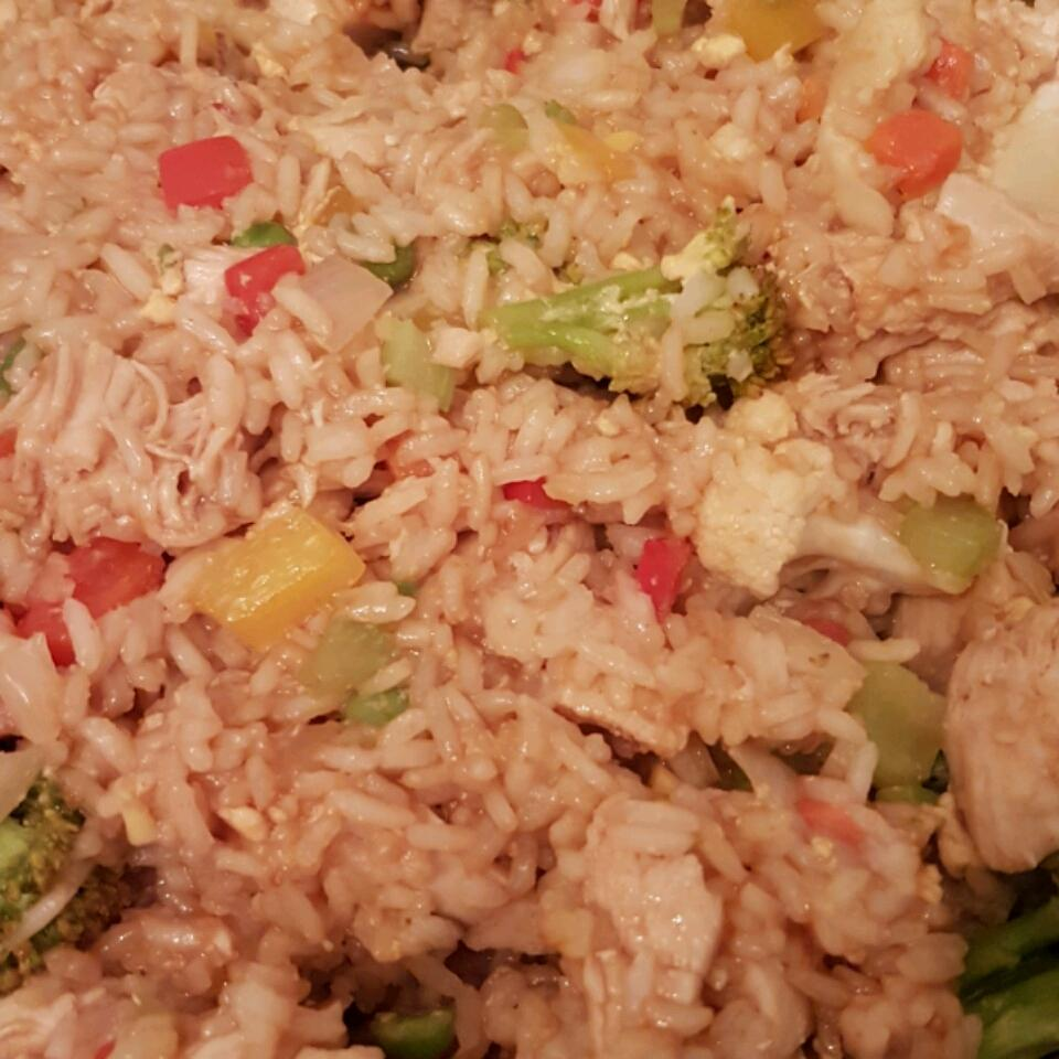 Roasted Garlic Teriyaki Fried Rice with Chicken Kimberly Bootsma