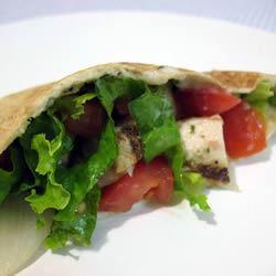 Warm Greek Pita Sandwiches With Turkey and Cucumber-Yogurt Sauce Carrie