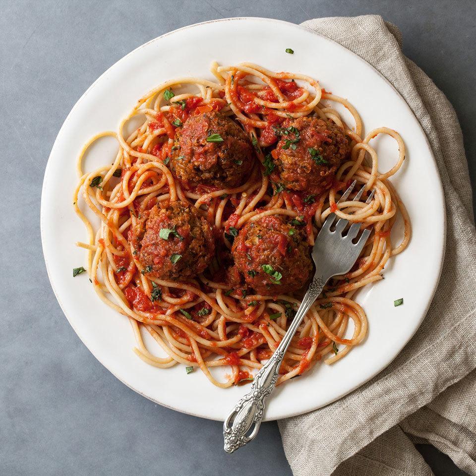 Saucy Vegetarian Meatballs Trusted Brands