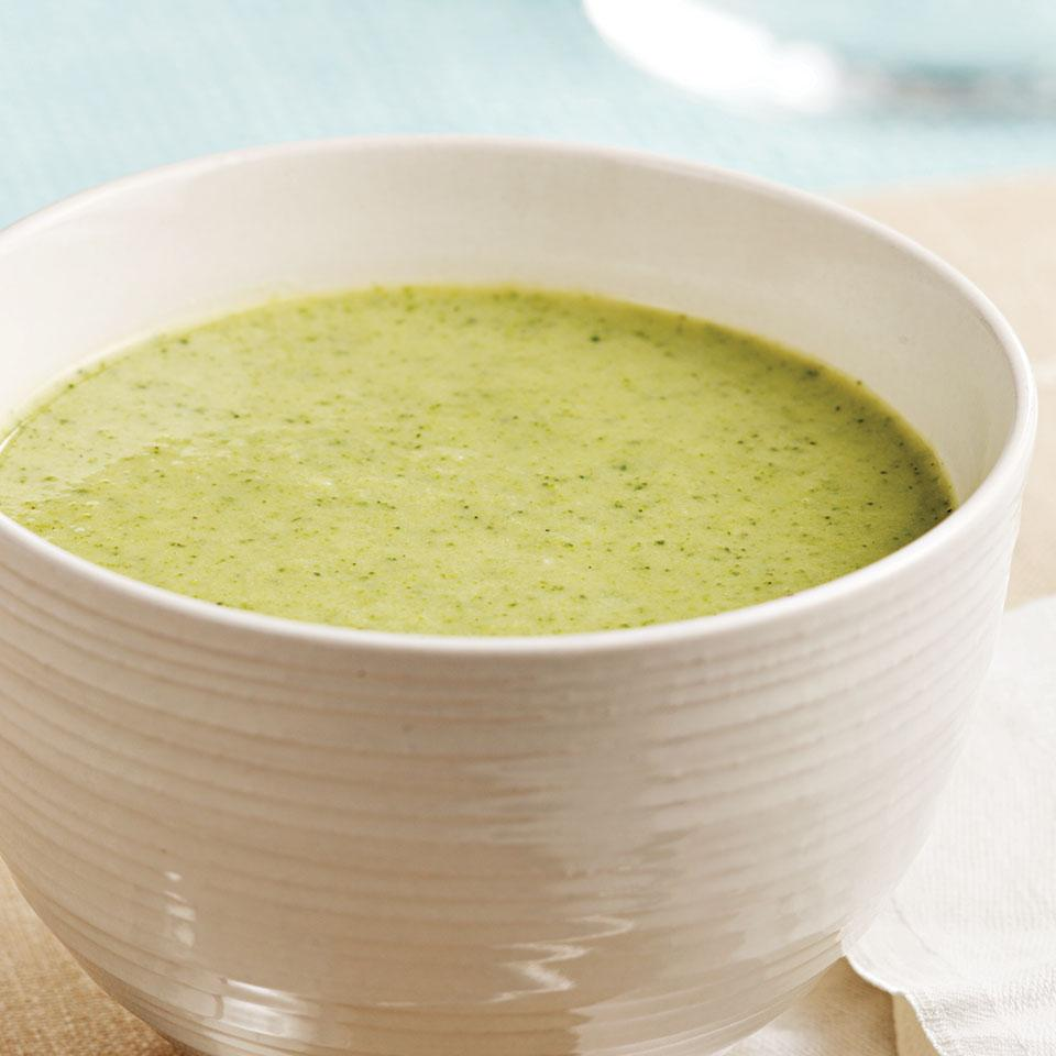 Pureed Broccoli Soup EatingWell Test Kitchen