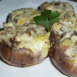 Artichoke Stuffed Mushrooms Keni