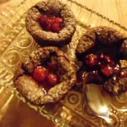 Molten Chocolate Cakes With Sugar-Coated Raspberries wild.rice