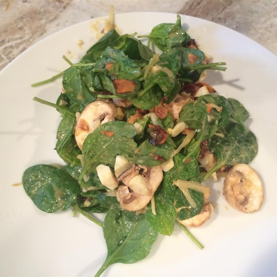 Spinach Salad with Warm Bacon-Mustard Dressing Diana