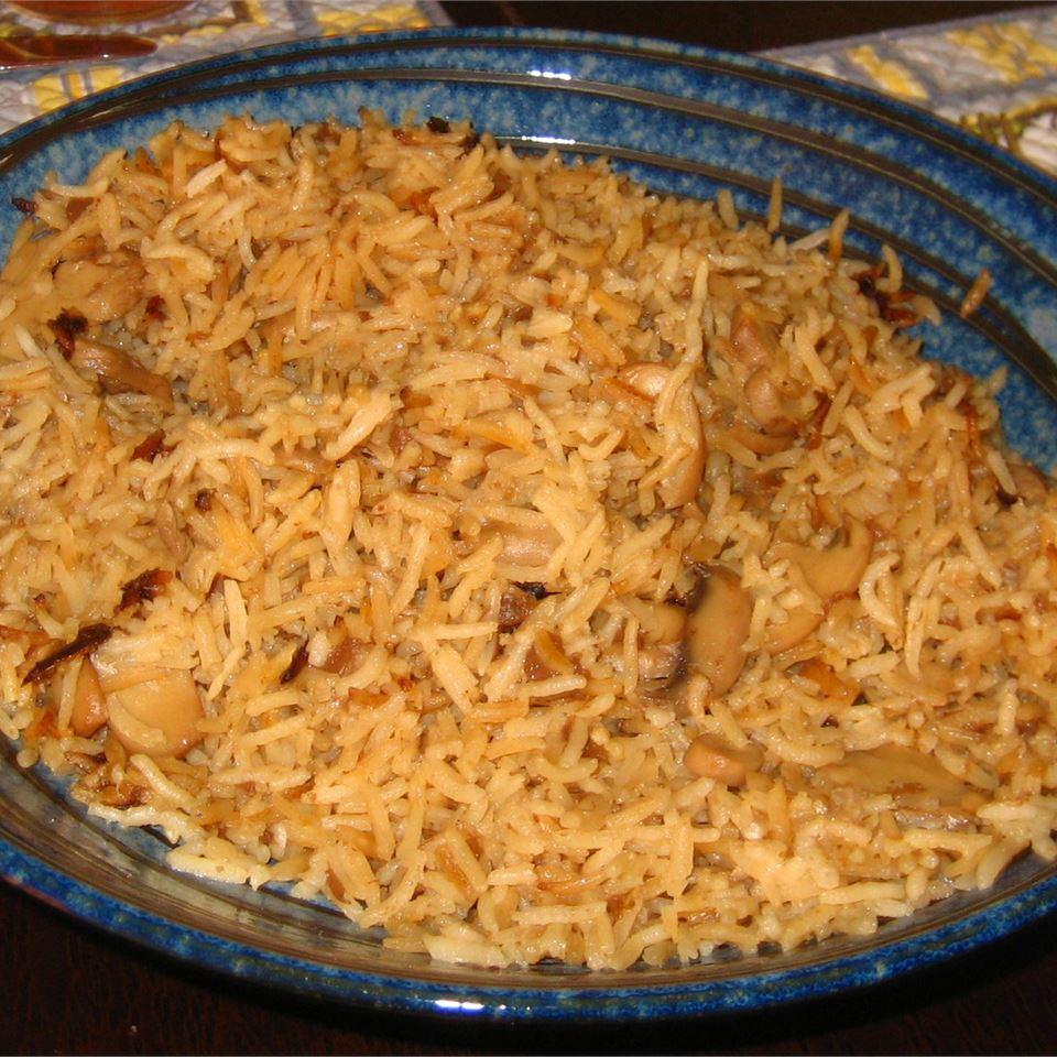Mushroom Onion Rice Jeff