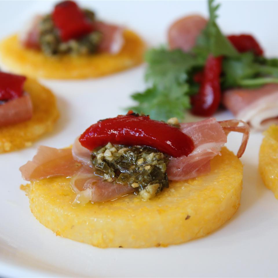 Lauren's Pesto Polenta Bites