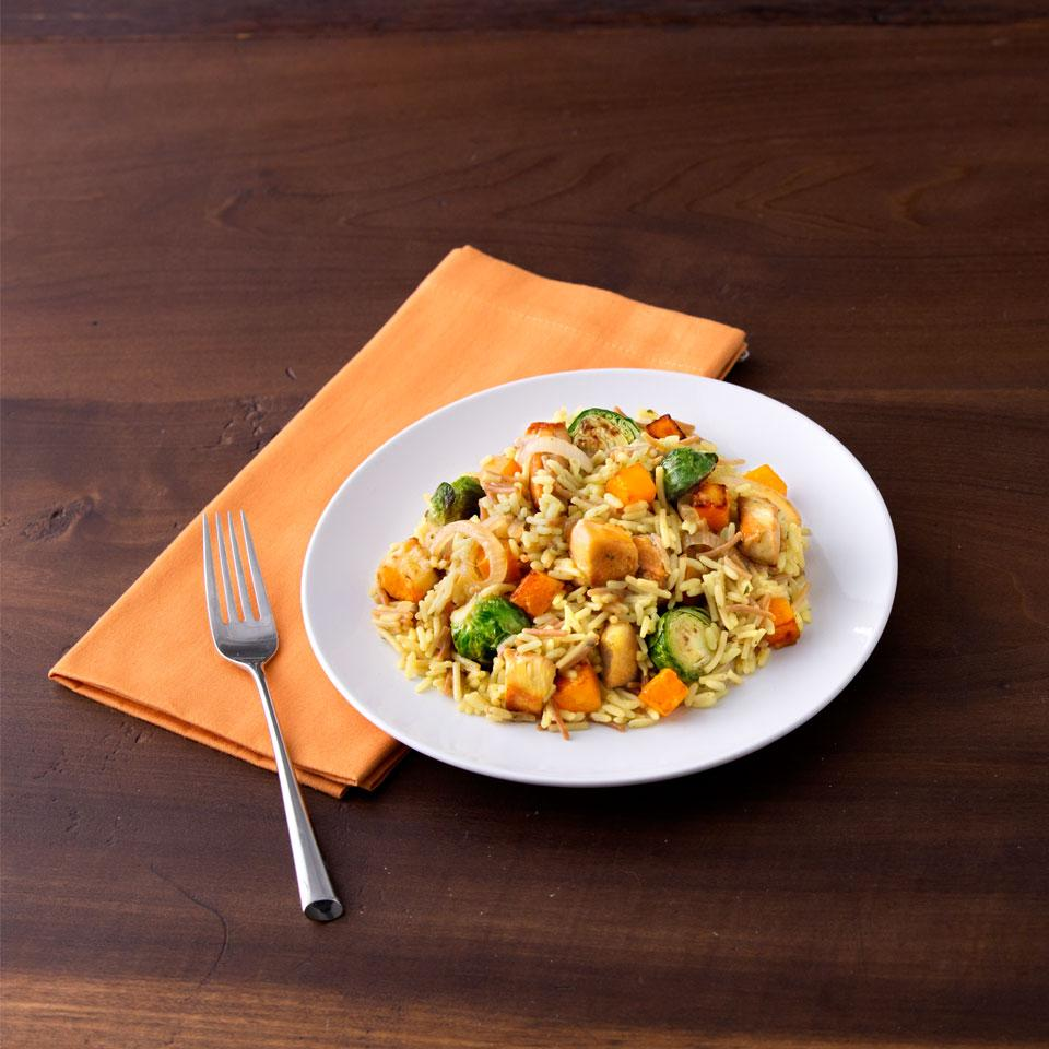 Chicken with Brussels Sprouts & Butternut Squash Skillet Dinner Knorr