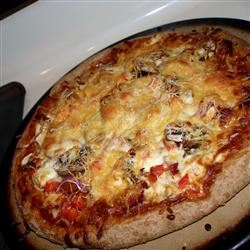 Chicken and Chourico Pizza ChristineM