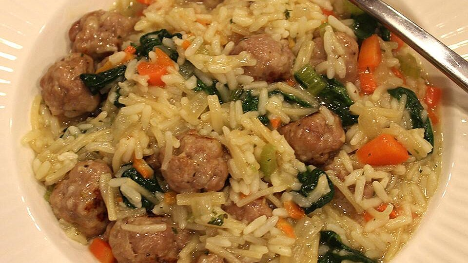 Italian Wedding Rice with Sausage