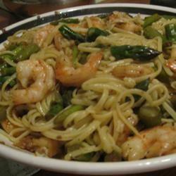 Shrimp and Asparagus Fettuccine KimK