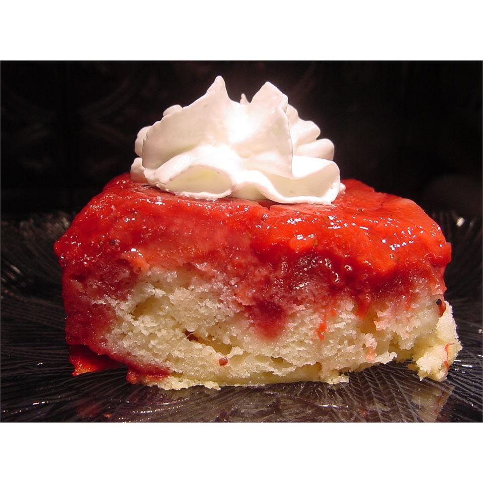 Fresh Strawberry Upside Down Cake