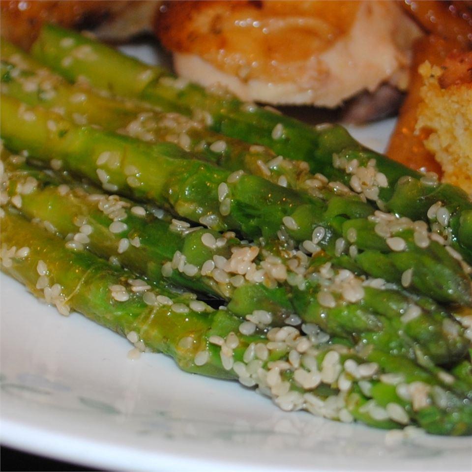 Lemon-Sesame Asparagus Pam Ziegler Lutz