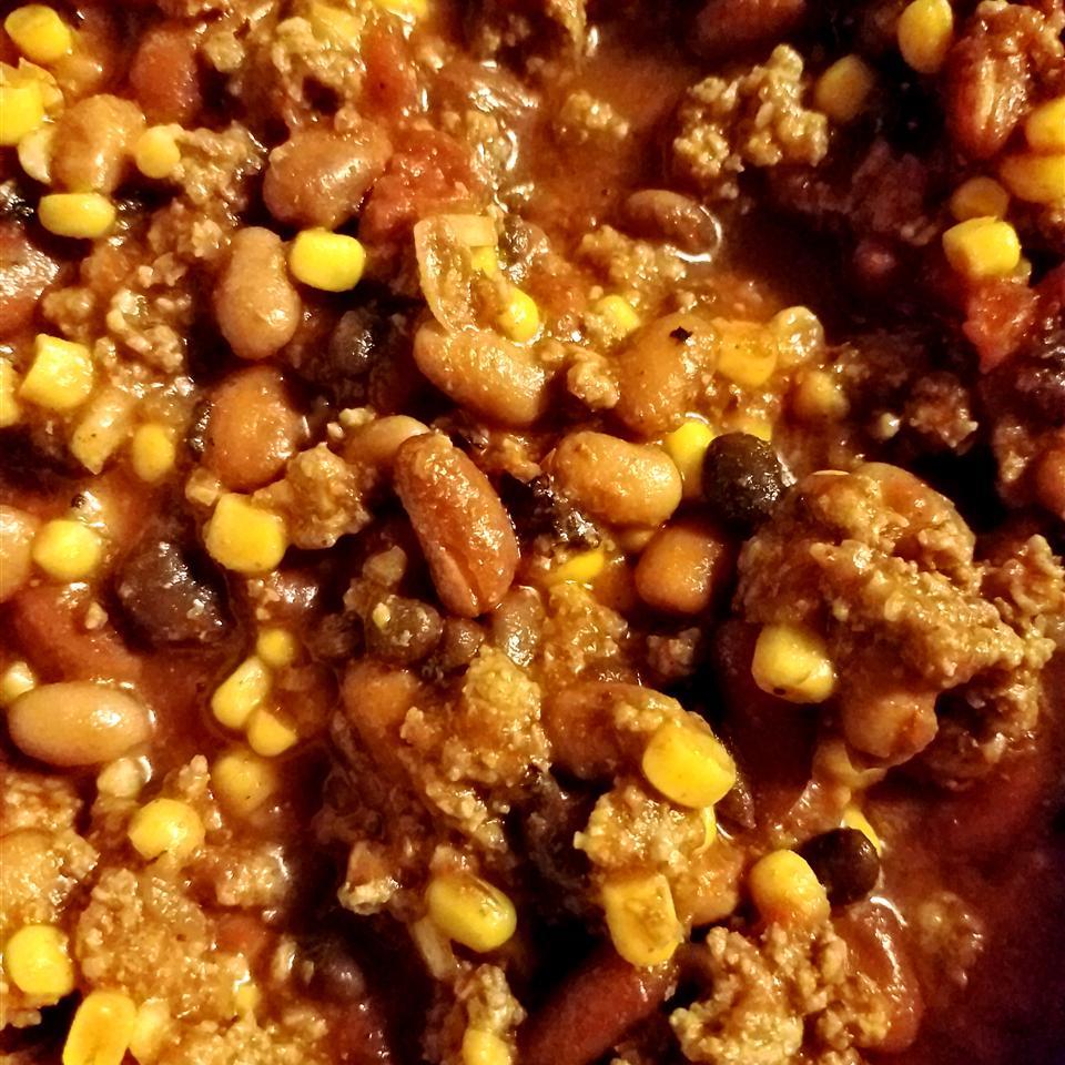 Slow Cooker 3-Bean Chili Tiffany Lauren Clark