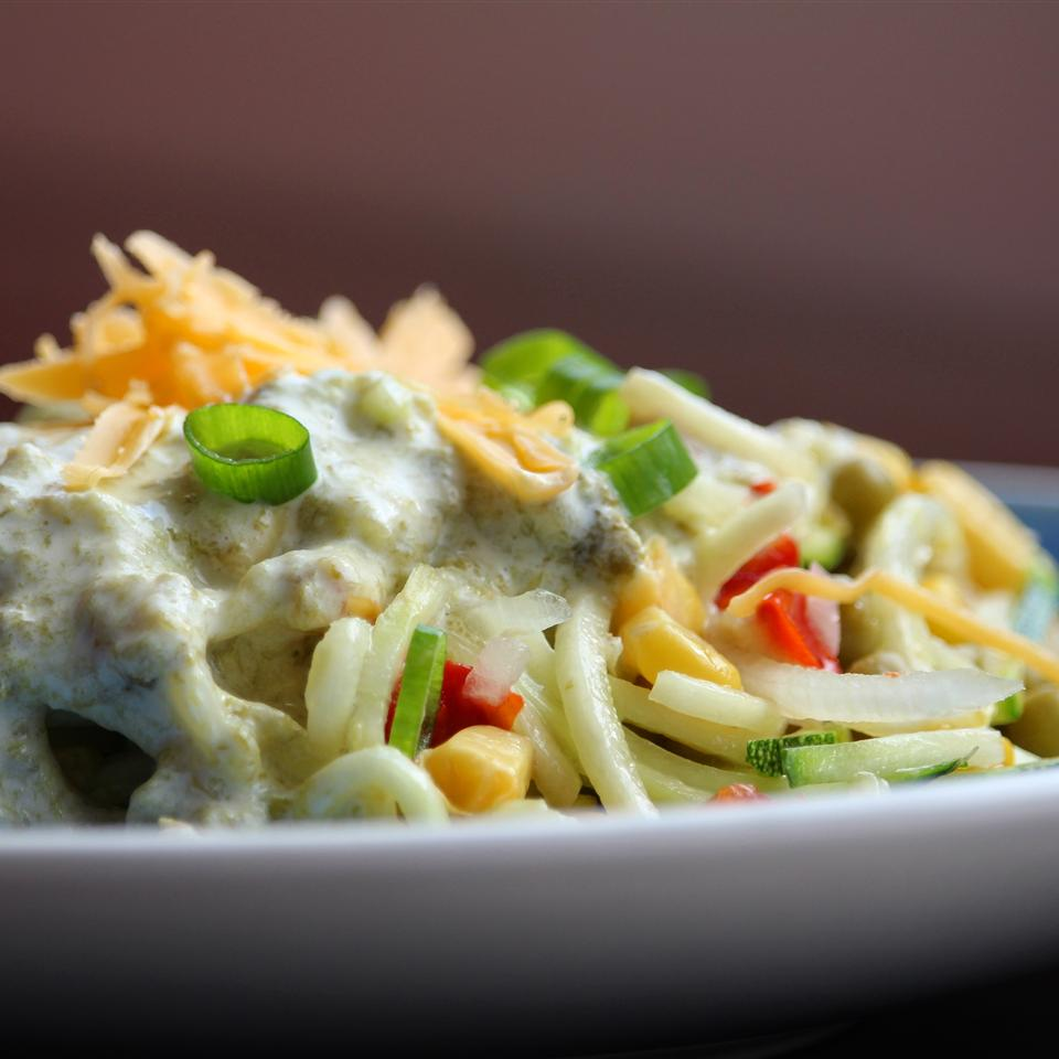 Mexican Squoodles with Creamy Fire-Roasted Green Chile Sauce Buckwheat Queen