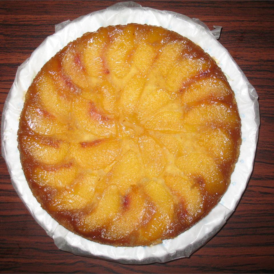 Peach Upside Down Cake II Juby Sunil