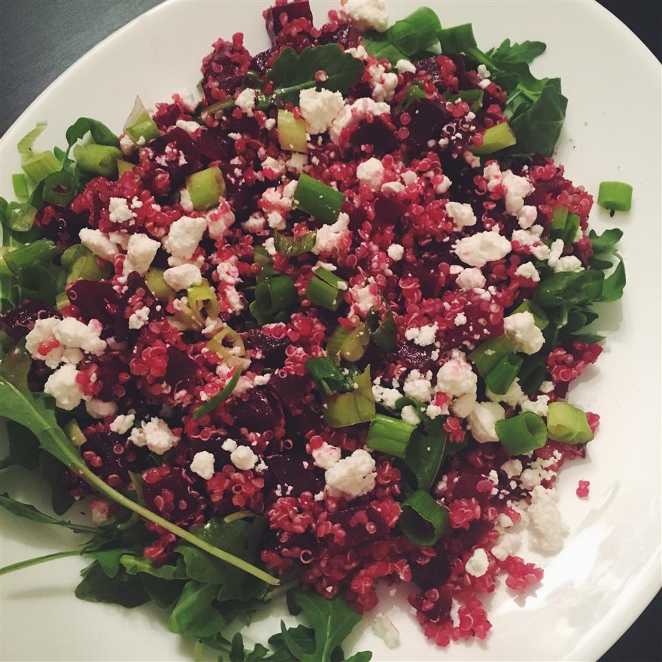 Quinoa, Beet, and Arugula Salad