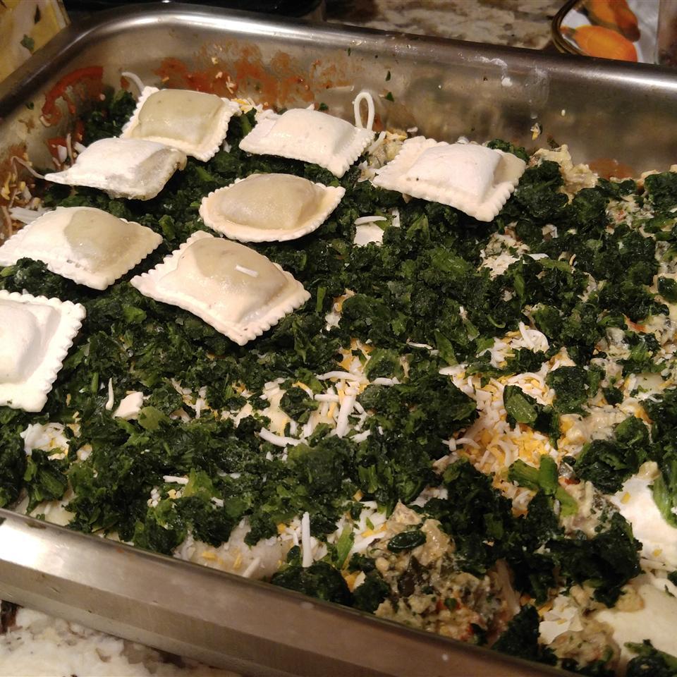 Beefy Baked Ravioli