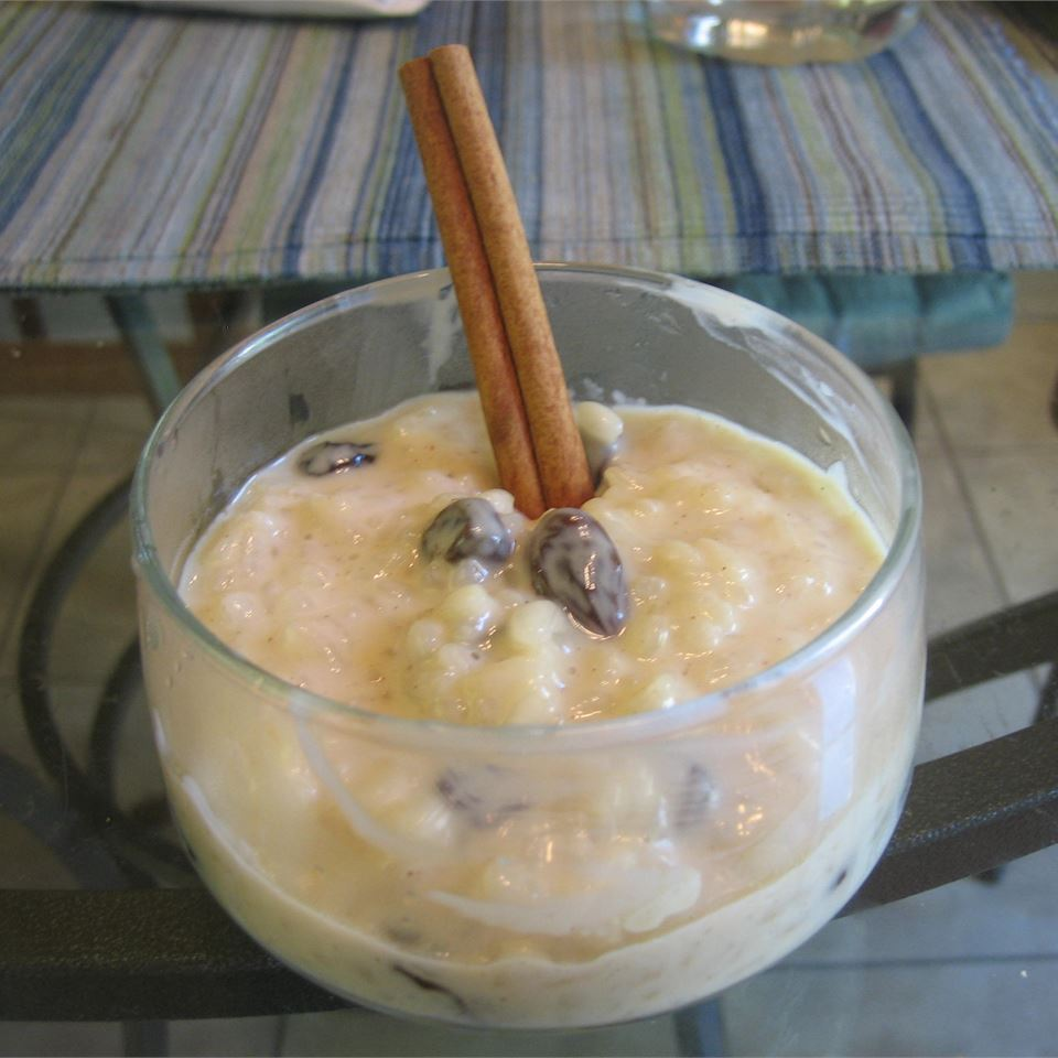 """This Arroz con Leche is the Cuban version of rice pudding,"" says recipe creator gator10. ""It's richer and sweeter than regular rice pudding. Being Cuban myself, I prefer this version of this delicious dessert to any other. Before serving, sprinkle with cinnamon or garnish with a cinnamon stick, for flair."" You can make it ahead of time and store it in the fridge in individual servings or in a big serve-yourself bowl."
