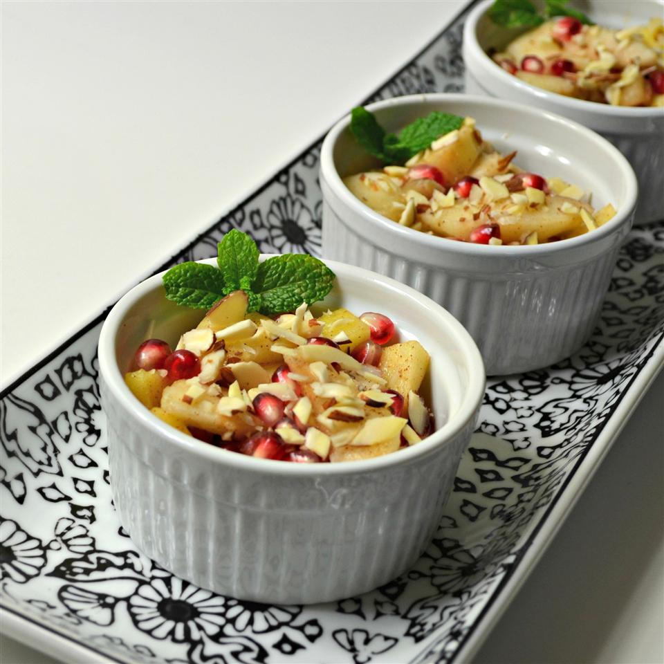 Spiced Pears and Pomegranate