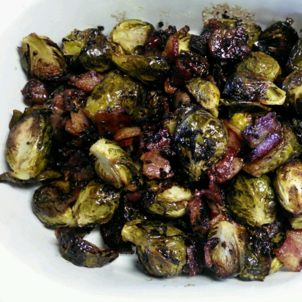 Glazed Brussels Sprouts with Bison Bacon DeEtte Petrie